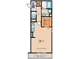 サンライズ湊II[2階]の間取り