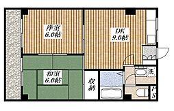 東京都昭島市昭和町1丁目の賃貸マンションの間取り