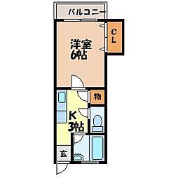 西田ビル[205号室]の間取り