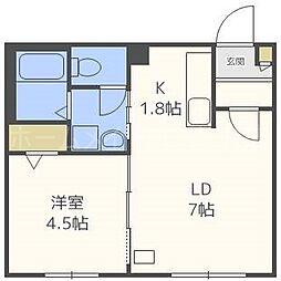 仮)東札幌1・6A[4階]の間取り