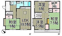 [テラスハウス] 神奈川県鎌倉市台1丁目 の賃貸【神奈川県 / 鎌倉市】の間取り