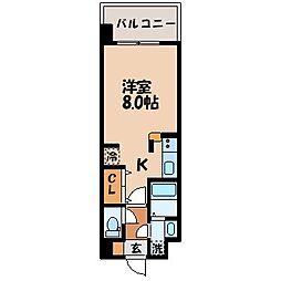 エスポワール若草[4階]の間取り