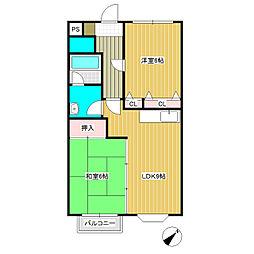 エルカーサ21[3階]の間取り