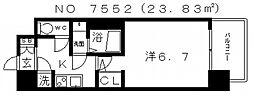 レジュールアッシュ天王寺PARKSIDE(パークサイド)[8階]の間取り