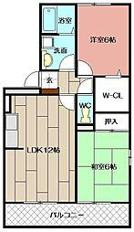 レスポワール赤坂C棟[302号室]の間取り