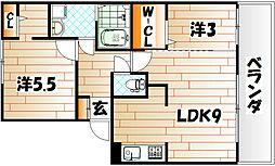 FK−ROCK[2階]の間取り