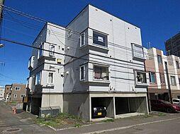北海道札幌市豊平区美園五条8の賃貸アパートの外観
