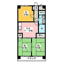 マンション渋谷II[2階]の間取り