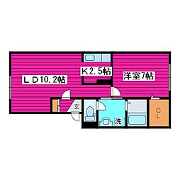 北海道札幌市東区北四十条東16丁目の賃貸アパートの間取り