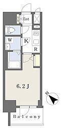 エスリードザ・ランドマーク神戸 2階1Kの間取り
