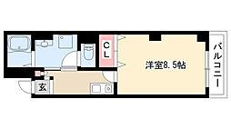 愛知県名古屋市昭和区川名本町4丁目の賃貸マンションの間取り