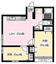 東京都江戸川区中央3丁目の賃貸マンションの間取り