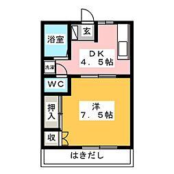 ピュア・エンゼル[1階]の間取り