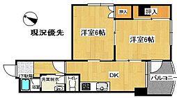 RaRaヤマガタ[305号室]の間取り