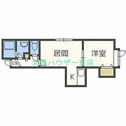 北海道札幌市東区北四十八条東4丁目の賃貸アパートの間取り