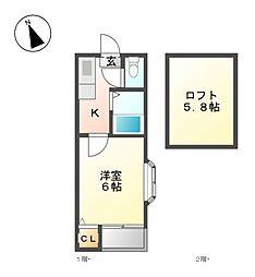 アーバンコート大曽根[2階]の間取り