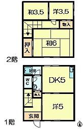 [テラスハウス] 奈良県奈良市百楽園3丁目 の賃貸【/】の間取り