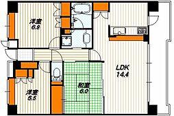 六角高倉パークホームズ[2階]の間取り
