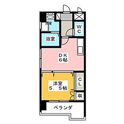 フレアコート[6階]の間取り