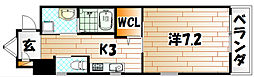 ウィングス重住[2階]の間取り