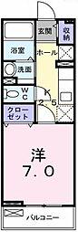 埼玉県越谷市レイクタウン6丁目の賃貸マンションの間取り