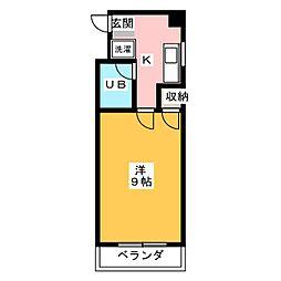 サチクレイドル[2階]の間取り
