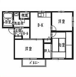 兵庫県姫路市飾磨区英賀東町1の賃貸アパートの間取り