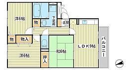 兵庫県赤穂市さつき町の賃貸アパートの間取り