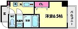 アキソレイユ本田 8階1Kの間取り