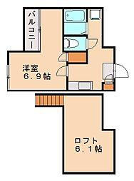 GOLDWING茶山[2階]の間取り