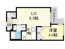北海道札幌市西区宮の沢1条2丁目の賃貸マンションの間取り