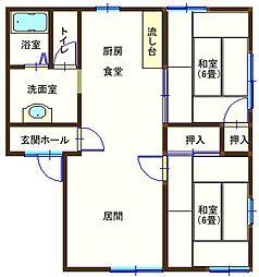 ラフォーレ大前2 102号室[1階]の間取り