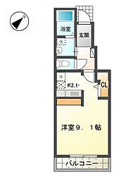 滋賀県愛知郡愛荘町川久保の賃貸アパートの間取り