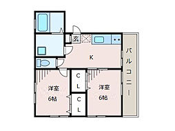神奈川県相模原市南区上鶴間本町4丁目の賃貸マンションの間取り