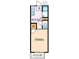 ロイヤルふじI[2階]の間取り