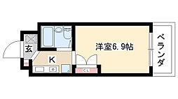 愛知県名古屋市瑞穂区岳見町6丁目の賃貸マンションの間取り