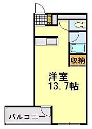 フィールドハウス末広弐番館[213号室]の間取り