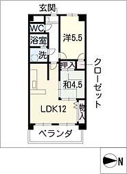 マーブルアサイ[3階]の間取り