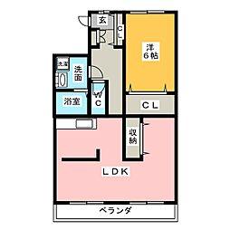 ブロードコートII[2階]の間取り