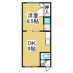 ホワイトパレス豊川[203号室]の間取り