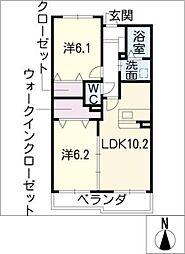 イーメゾンズ豊倉[1階]の間取り