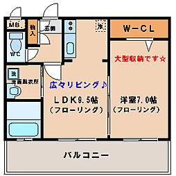 福岡県福岡市中央区長浜3丁目の賃貸マンションの間取り