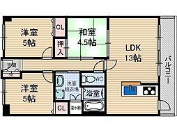 カーサビアンカ茨木[6階]の間取り