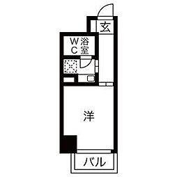 ライオンズマンション神戸西元町第2[2階]の間取り