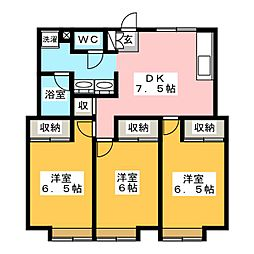 PROXY植田[2階]の間取り