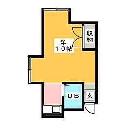 ハウスYAGI[1階]の間取り