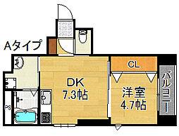パナホーム中加賀屋3丁目マンション[1階]の間取り