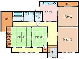 三重県松阪市殿町の賃貸アパートの間取り