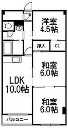 長井マンション[1階]の間取り