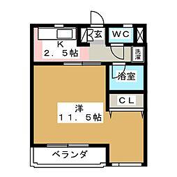 プペットHAGA[2階]の間取り